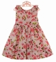 "<img src=""http://site.grammies-attic.com/images/blue-sold-1.gif""> NEW Sarah Louise Rose Flowered Dress with Ruffled Neckline"