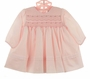 NEW Sarah Louise Pink Smocked Dress with Tiny Embroidered Rosebuds