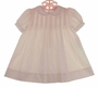 NEW Petit Ami Pink Classic Pintucked Baby Dress with Matching Bonnet