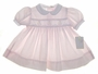 NEW Petit Ami Pale Pink Baby Dress with Embroidered Sailboats