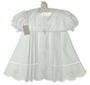 "<img src=""https://p11.secure.hostingprod.com/@grammies-attic.com/ssl/images/blue-sold-1.gif""> NEW Garden Of Angels White Pleated Dress with Pastel Embroidery and Lace Insertion"