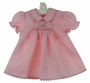 "<img src=""https://p11.secure.hostingprod.com/@grammies-attic.com/ssl/images/blue-sold-1.gif""> NEW Rosalina Pink Smocked Dress with Embroidered Bunnies"