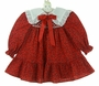 "<img src=""https://p11.secure.hostingprod.com/@grammies-attic.com/ssl/images/blue-sold-1.gif""> NEW Polly Flinders Red Holiday Print Smocked Dress with White Eyelet Trimmed Collar"