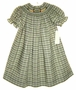"<img src=""https://p11.secure.hostingprod.com/@grammies-attic.com/ssl/images/blue-sold-1.gif""> NEW Be Mine Green Plaid Bishop Smocked Dress with Ducks Embroidery"