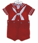"<img src=""https://p11.secure.hostingprod.com/@grammies-attic.com/ssl/images/blue-sold-1.gif""> NEW C. I. Castro Sailor Button On Shorts Set for Toddlers in Red or Navy Velvet"
