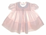 "<img src=""https://p11.secure.hostingprod.com/@grammies-attic.com/ssl/images/blue-sold-1.gif""> NEW Feltman Brothers Pale Pink Smocked Day Dress with Embroidered Rosebuds"