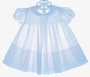 "<img src=""https://p11.secure.hostingprod.com/@grammies-attic.com/ssl/images/blue-sold-1.gif""> NEW Feltman Brothers Pale Blue Smocked Baby Dress with Pleated Front"