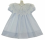 "<img src=""https://p11.secure.hostingprod.com/@grammies-attic.com/ssl/images/blue-sold-1.gif""> NEW Judy Lynn Pale Blue Dress with Lace and Ribbon Trimmed Collar"