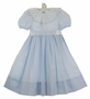 "<img src=""https://p11.secure.hostingprod.com/@grammies-attic.com/ssl/images/blue-sold-1.gif""> NEW Judy Lynn Pale Blue Dress with Lace and Ribbon Trimmed Heirloom Collar"