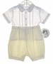 "<img src=""https://p11.secure.hostingprod.com/@grammies-attic.com/ssl/images/blue-sold-1.gif""> NEW Sarah Louise Yellow and White Button On Shorts Set with Embroidered Ducks"