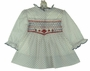 "<img src=""https://p11.secure.hostingprod.com/@grammies-attic.com/ssl/images/blue-sold-1.gif""> NEW Polly Flinders White Smocked Dress with Navy Dots and Red Embroidery"