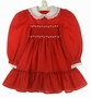 "<img src=""https://p11.secure.hostingprod.com/@grammies-attic.com/ssl/images/blue-sold-1.gif""> Polly Flinders Red Smocked Dress with Lace Collar Embroidered Flowers and Seed Pearls"