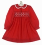 "<img src=""https://p11.secure.hostingprod.com/@grammies-attic.com/ssl/images/blue-sold-1.gif"">  Polly Flinders Red Smocked Dress with White Eyelet Edged Collar and Pearl Trimmed Flowers"