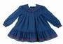 Polly Flinders Navy Sailor Dress with Red Trim