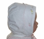 "<img src=""https://p11.secure.hostingprod.com/@grammies-attic.com/ssl/images/blue-sold-1.gif""> NEW MJ Collection White Heirloom Style Bonnet with Pink Embroidery"