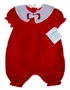 "<img src=""https://p11.secure.hostingprod.com/@grammies-attic.com/ssl/images/blue-sold-1.gif""> NEW Feltman Brothers Red Dotted Velvet Baby Bubble with White Organdy Collar"