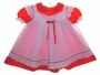 """<img src=""""https://p11.secure.hostingprod.com/@grammies-attic.com/ssl/images/blue-sold-1.gif""""> Bryan Red Dress with White Dotted Eyelet Trimmed Pinafore"""
