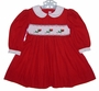 "<img src=""https://p11.secure.hostingprod.com/@grammies-attic.com/ssl/images/blue-sold-1.gif""> House of Hatten Red Smocked Baby Dress with Roses Embroidery"