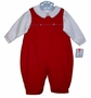 "<img src=""https://p11.secure.hostingprod.com/@grammies-attic.com/ssl/images/blue-sold-1.gif""> NEW Petit Ami Red and White Corduroy Romper with Removable Embroidery Tabs"