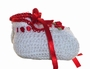 "<img src=""https://p11.secure.hostingprod.com/@grammies-attic.com/ssl/images/blue-sold-1.gif""> NEW White Crocheted Booties with Red Roses and Pearl Accents"
