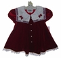 "<img src=""https://p11.secure.hostingprod.com/@grammies-attic.com/ssl/images/blue-sold-1.gif""> NEW Rare Editions Red Velvet Dress with Lace Trimmed Organdy Collar"
