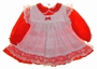 """<img src=""""https://p11.secure.hostingprod.com/@grammies-attic.com/ssl/images/blue-sold-1.gif""""> Alexis Red Dress with White Lace Trimmed Pinafore"""