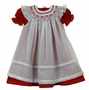 "<img src=""https://p11.secure.hostingprod.com/@grammies-attic.com/ssl/images/blue-sold-1.gif""> NEW Will'Beth Red Dress with White Smocked Pinafore"