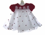 "<img src=""https://p11.secure.hostingprod.com/@grammies-attic.com/ssl/images/blue-sold-1.gif""> NEW Rare Editions Red Velvet Baby Dress with White Organdy Skirt with Red Rosebuds"