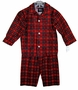 """<img src=""""http://site.grammies-attic.com/images/blue-sold-1.gif""""> NEW Red Plaid Pajamas for Toddler and Little Boys"""