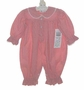 "<img src=""https://p11.secure.hostingprod.com/@grammies-attic.com/ssl/images/blue-sold-1.gif""> NEW Royal Kidz Red Checked Romper with Lace Trimmed Collar"