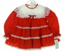 "<img src=""https://p11.secure.hostingprod.com/@grammies-attic.com/ssl/images/blue-sold-1.gif""> NEW Bryan Red Ruffled Dress with White Lace Yoke and Matching Diaper Cover"