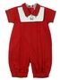 "<img src=""https://p11.secure.hostingprod.com/@grammies-attic.com/ssl/images/blue-sold-1.gif"">NEW Will'Beth Red Romper with Santa Embroidery"