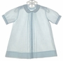 "<img src=""https://p11.secure.hostingprod.com/@grammies-attic.com/ssl/images/blue-sold-1.gif""> Feltman Brothers Pale Blue Pintucked Daygown with White Embroidered Snowmen"
