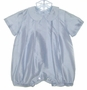 "<img src=""https://p11.secure.hostingprod.com/@grammies-attic.com/ssl/images/blue-sold-1.gif""> NEW Heirloom Italian Blue Silk Baby Romper"