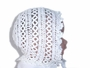 "<img src=""https://p11.secure.hostingprod.com/@grammies-attic.com/ssl/images/blue-sold-1.gif""> Heirloom 1920s White Tatted Bonnet and Matching Booties"