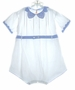 "<img src=""https://p11.secure.hostingprod.com/@grammies-attic.com/ssl/images/blue-sold-1.gif""> Heirloom 1930s Boys White Romper with Blue Fagoted Collar"
