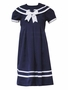 NEW Rare Editions Navy Sailor Dress with White Trim
