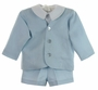 NEW Gordon & Company Light Blue Linen Eton Suit with Shorts