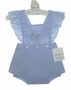 """<img src=""""https://p11.secure.hostingprod.com/@grammies-attic.com/ssl/images/blue-sold-1.gif""""> NEW Royal Child Vintage Style Sunsuit with Embroidered Bluebirds and Matching Bonnet"""