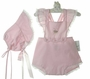 "<img src=""https://p11.secure.hostingprod.com/@grammies-attic.com/ssl/images/blue-sold-1.gif""> NEW Royal Child Pink Vintage Style Sunsuit with Embroidered Flowers and Matching Bonnet"