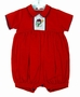 "<img src=""https://p11.secure.hostingprod.com/@grammies-attic.com/ssl/images/blue-sold-1.gif"">  NEW Will'Beth Corduroy Red Romper with Snowman Embroidery"