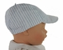 NEW Sarah Louise Blue Striped Linen Hat