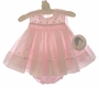 "<img src=""https://p11.secure.hostingprod.com/@grammies-attic.com/ssl/images/blue-sold-1.gif""> NEW Sarah Louise Pink Sleeveless Smocked Baby Dress with Pink Embroidered Flowers"