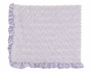 NEW Max Daniel Lavender Softest Baby Blanket with Satin Trim