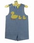 NEW Bailey Boys Royal Checked Reversible Shortall with Appliqued Ducks