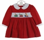 "<img src=""https://p11.secure.hostingprod.com/@grammies-attic.com/ssl/images/blue-sold-1.gif""> NEW Carriage Boutiques Red Corduroy Smocked Dress with Holiday Embroidery"