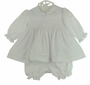 NEW Will'Beth White Smocked Dress with Pintucks and Lace Trim