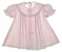 NEW Garden of Angels Pink Pleated Baby Dress with Lace and Delicate Embroidery