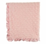 NEW Max Daniel Pink Softest Baby Blanket with Satin Trim