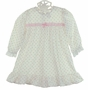 NEW Pink Rosebud Print Nightgown with Long Sleeves for Babies, Toddlers, Little Girls, and Big Girls